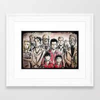 tenenbaums Framed Art Prints featuring The Royal Tenenbaums by Joe Badon