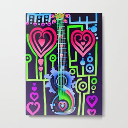 Fusion Keyblade Guitar #184 - Dual Disk & Overdrive Metal Print