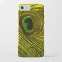 peacock feather iPhone & iPod Cases featuring Peacock Feather by TaLins