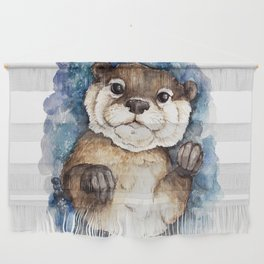 Watercolor Otter Wall Hanging