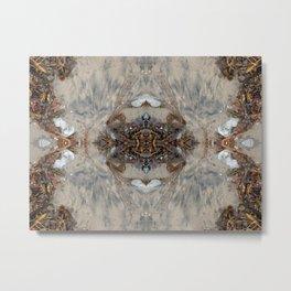 Elegant Seaweed Mandala-esque (#30b) Metal Print