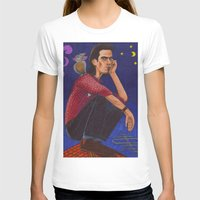 nick cave T-shirts featuring Nick On The Roof by Anna Gogoleva