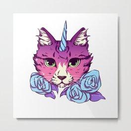 Magical Cat Metal Print