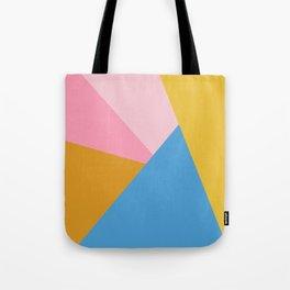 Cute Colorful Diagonal Color Blocking Tote Bag