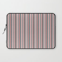Red, black white striped pattern . Laptop Sleeve