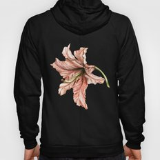 Pink Lily Flower Watercolor Hoody