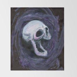 Skull Shirt Design #1 Throw Blanket