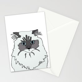 Theodore the Himalayan cat Stationery Cards