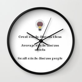 Always be the great one Wall Clock