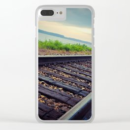 Tracks By the Lake Clear iPhone Case
