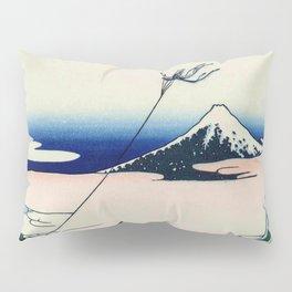 Hokusai -36 views of the Fuji  11 Asakusa Hongan-ji temple in the Eastern capital Pillow Sham