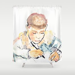 School-boy Shower Curtain