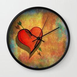 Cupids arrow strikes Wall Clock