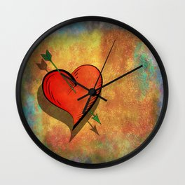 Cupids arrow strikes Wall Clock