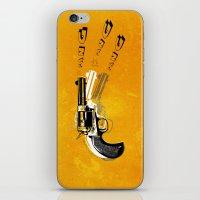 gun iPhone & iPod Skins featuring gun  by mark ashkenazi