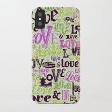 Vintage Love Words iPhone X Slim Case
