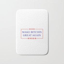 Make Bitcoin Great Again - Bitcoin Funny T-Shirt Bath Mat