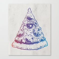 All Seeing Pizza Canvas Print