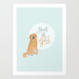 Heart of Gold // Golden Retriever Art Print