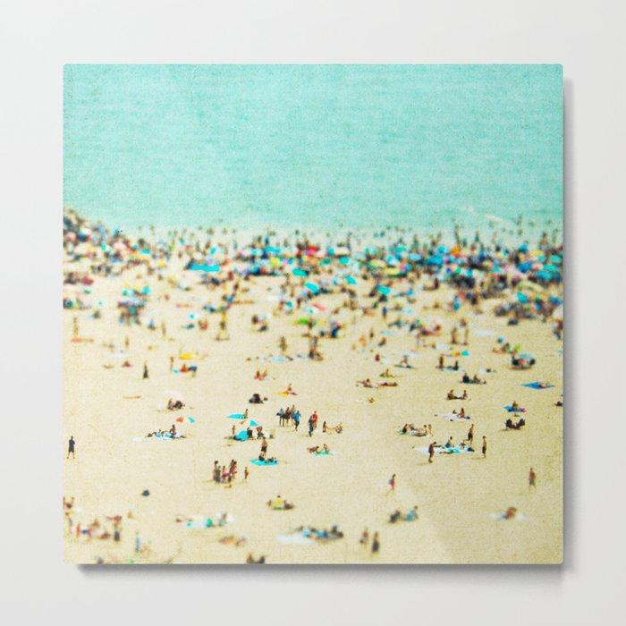 Coney Island Beach Metal Print