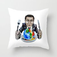 suit Throw Pillows featuring Suit by 13 Styx