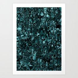 mix blue Art Print