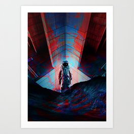 See you soon Space Cowboy Art Print