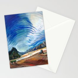 Emily Carr - Above the Gravel Pit - Canada, Canadian Oil Painting - Group of Seven Stationery Cards