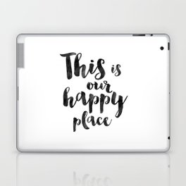 OUR HAPPY PLACE, This Is My Happy Place,Living Room Decor,Home Decor,Home Gifts,Home Sign,Bedroom De Laptop & iPad Skin