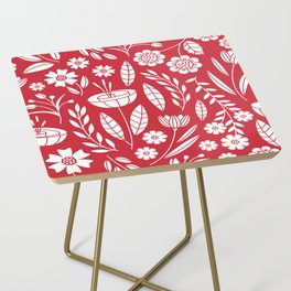 Blooming field - red Side Table