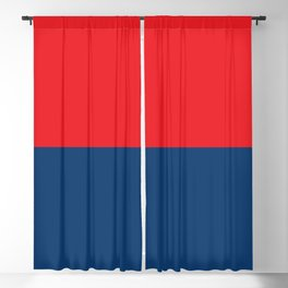 Half-and-Half in Red and Navy Blackout Curtain
