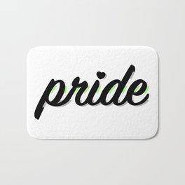 Agender Pride Bath Mat