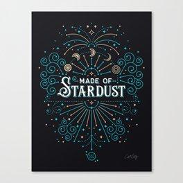 Made of Stardust – Blue & Black Palette Canvas Print