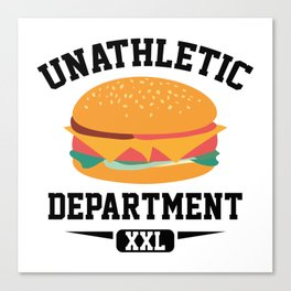 Unathletic Department Canvas Print