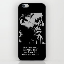 BUKOWSKI collage - The FREE SOUL quote iPhone Skin