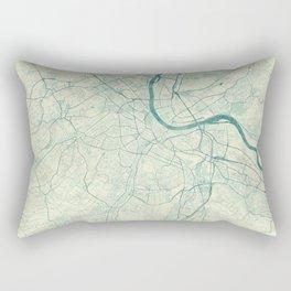 Basel Map Blue Vintage Rectangular Pillow