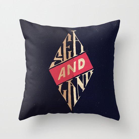 Sea and Land Throw Pillow