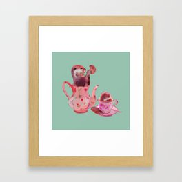 Otter Tea and Biscuits Framed Art Print