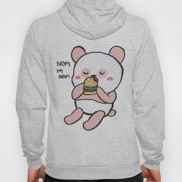 Pink Panda eating Burger Hoody