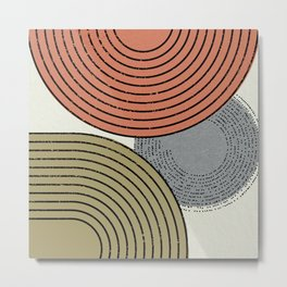 Retro Minimalist Design Metal Print