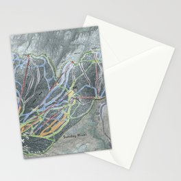 Sunday River Resort Trail Map Stationery Cards