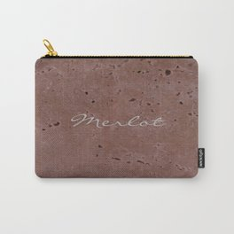 Merlot Wine Red Travertine - Rustic - Rustic Glam Carry-All Pouch