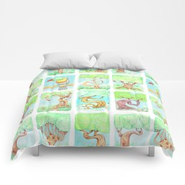 Spring trees with toucan Comforters
