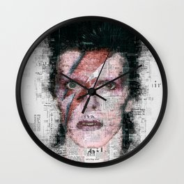 David Bowie Newspaper Style Wall Clock