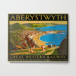Aberystwyth Travel Poster Metal Print