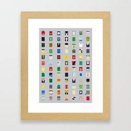 Minimalism Villains Framed Art Print