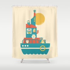 Owl Aboard Shower Curtain