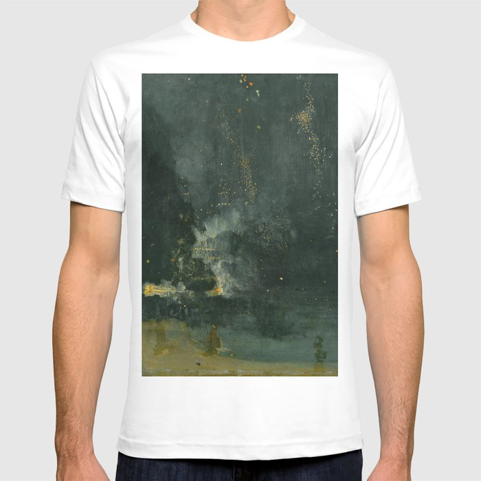 sale usa online promo code temperament shoes James Abbott McNeill Whistler - Nocturne in Black and Gold T-shirt
