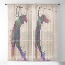 Golf player art 2 Sheer Curtain