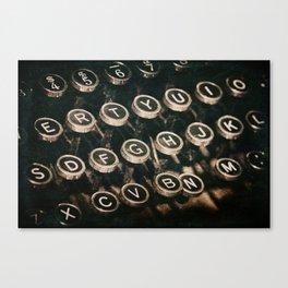 Antique Typewriter Canvas Print